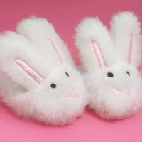Doll Clothing for 18 Inch Doll Slippers- White Bunny Slippers, Sized for American Girl and More! Doll Accessories, Doll Clothing for 18 inch Dolls, My Doll's Life Doll Clothes