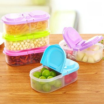 Fresh Food Storage PP Boxes Kitchen Container Sauce Box Case with lids