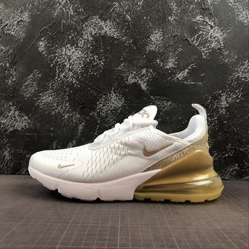 """Nike Air Max 270 """"White/Gold"""" - Best Online Sale"""