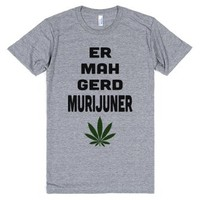 Ermahgerd Murijuner-Unisex Athletic Grey T-Shirt