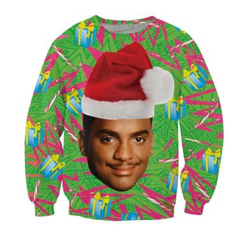Christmas Cat Hoody Will Smith Spring Autumn Long Sleeve Casual Harajuku Sweatshirt Women Printed Hoodies Moletom Feminino