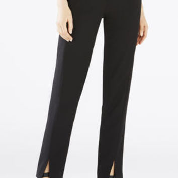 Black BCBG Kurra Slim-Leg Trouser