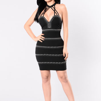 Take This Ring Dress - Black