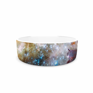 "Suzanne Carter ""Star Cluster"" Blue Space Pet Bowl"
