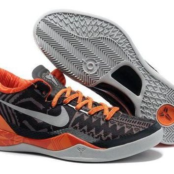 ONETOW VAWA Nike Zoom Men's Kobe 8 System 584432-001 Basketball Shoes Black Orange