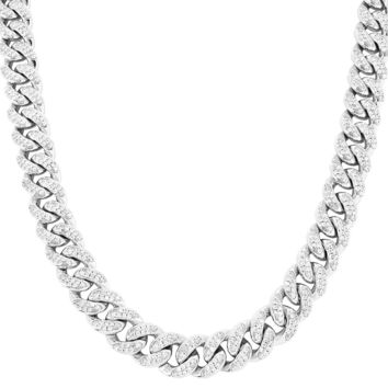 "Hip Hop Men's 12mm Miami Cuban Links 18-30"" Necklace"