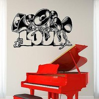 Wall Vinyl Music Set Of Loud Speakers Guaranteed Quality Decal Unique Gift (z3488)