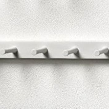 Spectrum Diversified Wood Wall Hook Rack, 7 Peg, White