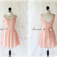 A Party Cutie Dress - New A Party Dress Collection Light Peachy Pink Sweet Lovely Cocktail Party Prom Wedding Bridesmaid Dress S-M