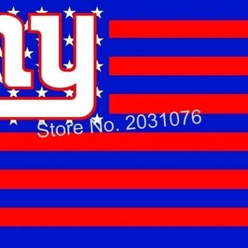 New York Giants USA  Premium Team Football Flag NY Hot sell goods 3X5FT 150X90CM stars and stripes custom flag
