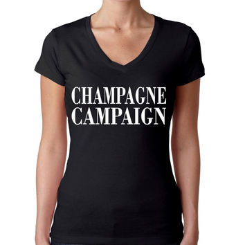 Champagne campaign Private Party Sporty V Shirt women