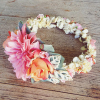 Tangerine Skies Flower Crown
