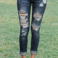 Rocky Springs Cropped Machine Jeans