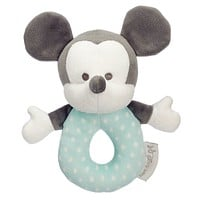 Disney Mickey Mouse Plush Rattle for Baby New with Tag