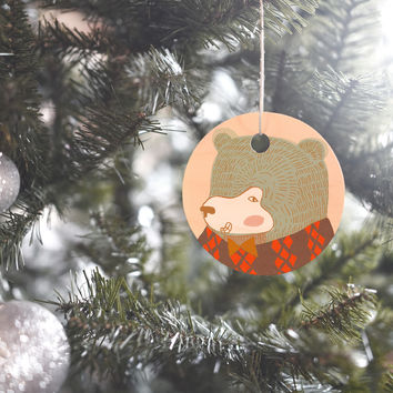 Mummysam Mr Bear Ornament Round