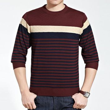 Mens Fashionable Multi Patterned Sweater