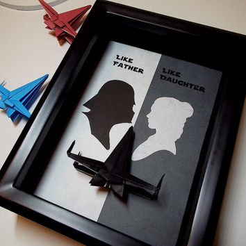 Star Wars Daughter To Father Gift, From Daughter, Dad Gift From Baby, Stepfather Gift From Stepdaughter, 5X7 Shadowbox With An X Wing Figure