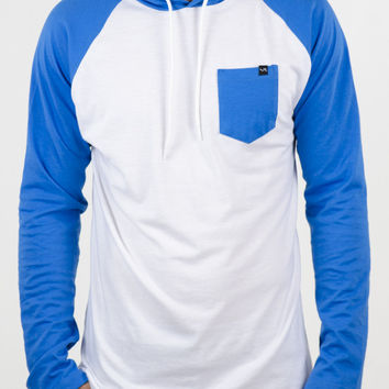 Vooray Callon Long Sleeve Tee White/Blue