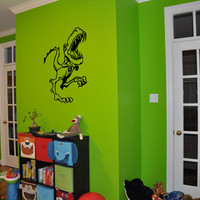 Baby Wall Decal Baby Room Kids Wall Children Wall Sticker Girl Boy Nursery Decal Baby Boy Baby Girl T Rex Dinosaur Cartoon Art nm161