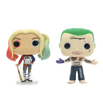 Chanycore Funko Pop 96# 97# Suicide Squad Batman Joker Harley Quinn Deadshot Collectible Vinyl Action Figure Model Toys Gift