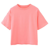Peach Pink Sleeve T-shirt