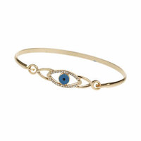 Rhinestone Eye Bangle - Clear