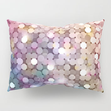 Rainbow glitter texture Pillow Sham by printapix