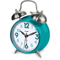 Sharp Twin Bell Alarm Clock, Teal - Walmart.com