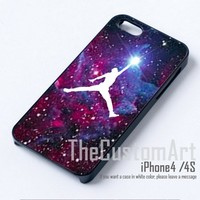 Air Jordan Logo Brand Nebule - For iPhone 4 Black Case Cover