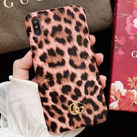 GUCCI Fashion New Leopard Women Men Protective Cover Phone Case