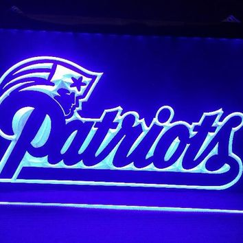 b-138 New England Patriots NFL beer bar pub club 3d signs LED Neon Light Sign man cave
