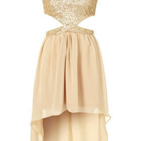 **Sequin Cut Out Dress by Rare - Dresses  - Clothing