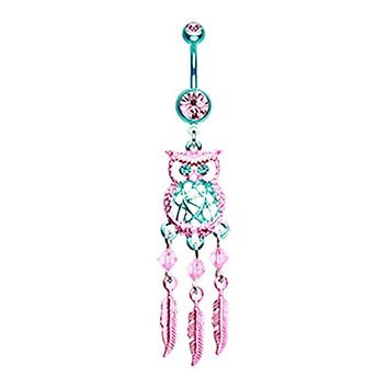 Guardian Owl Dreamcatcher WildKlass Belly Button Ring