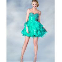 2013 Prom Dresses -Mint Chiffon Short Prom Dress - Unique Vintage - Prom dresses, retro dresses, retro swimsuits.