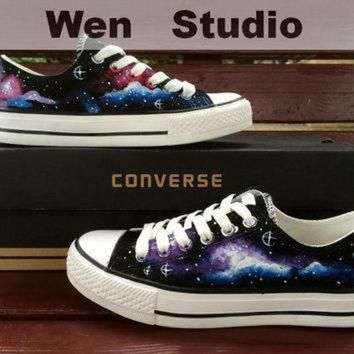 DCCK1IN sale galaxy converse design galaxy shoes hand painted shoes converse shoes custom pai