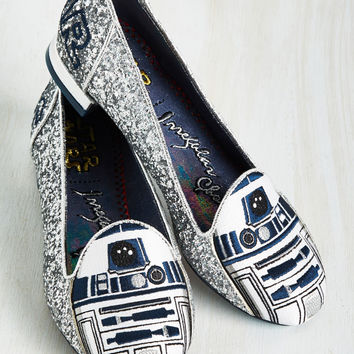 Irregular Choice Thank the Maker Flat in R2-D2 | Mod Retro Vintage Flats | ModCloth.com