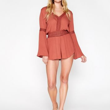 Crochet Romper With Bell Sleeves