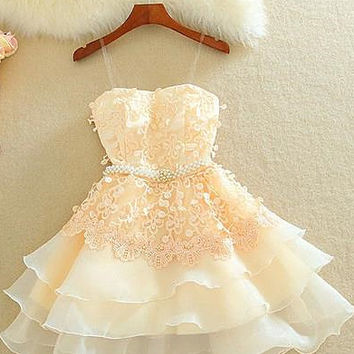 Straps Homecoming Dress,Short Applique Chiffon Homecoming Dresses