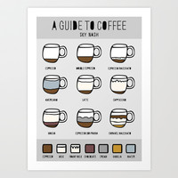 Coffee Art Print by Sky Nash