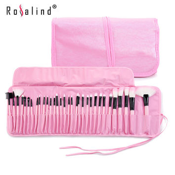 Stock Clearance !!! Rosalind 32Pcs Makeup Brushes Professional Cosmetic Make Up Brush Set The Best Quality!