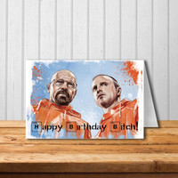 Happy Birthday Bitch card Breaking Bad card Funny Birthday Card Happy Birthday Card  Funny Anniversary Card for Boyfriend gift Man Him Men