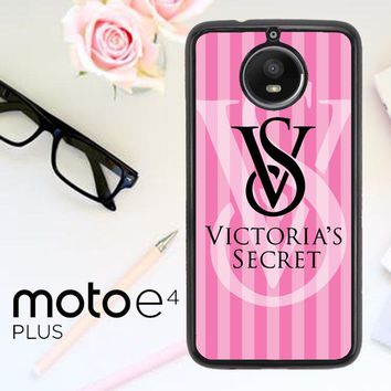 Victoria Secret Logo Pink Z3874 Motorola Moto E4 Plus Case