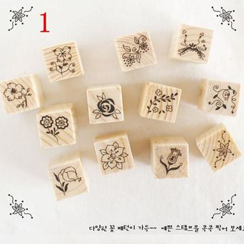 /() Cartoon Flowers Girls Stamps Decor Diary Scrapbooking shipping