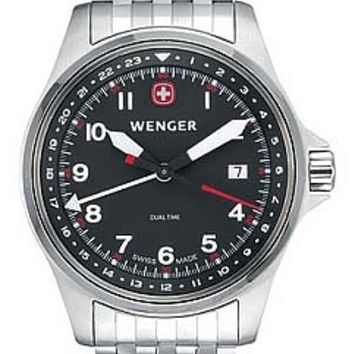 Wenger Men's Swiss Made Aerograph Dual Time GMT Watch 72098