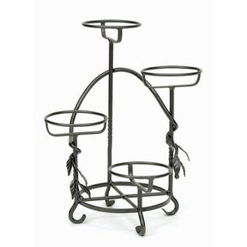 ACHLA Designs FC-05 Wrought Iron Cascading Plant Stand (Clearance Priced)