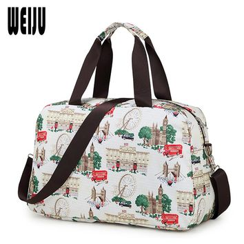WEIJU Fashion Women Travel Bag New 2017 Luggage Handbag Print Travel Duffle Bags Casual Waterproof Tote Bag 43cm*28cm*16cm