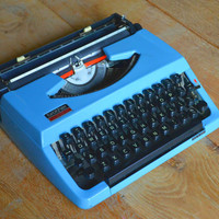 Beautiful Baby Blue Brother 210 - Vintage Typewriter - Working Perfectly