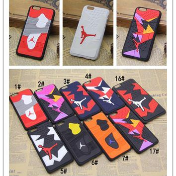 For Iphone 6 Phone Case 3D Jordan Sport  Basketball Phone Back Cover Case for Iphone 6 6s plus