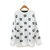 Flower Knit Sweater for Women A