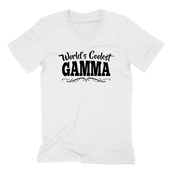 World's coolest gamma Mother's day birthday gift ideas for new grandma proud grandmom gifts for her  V Neck T Shirt